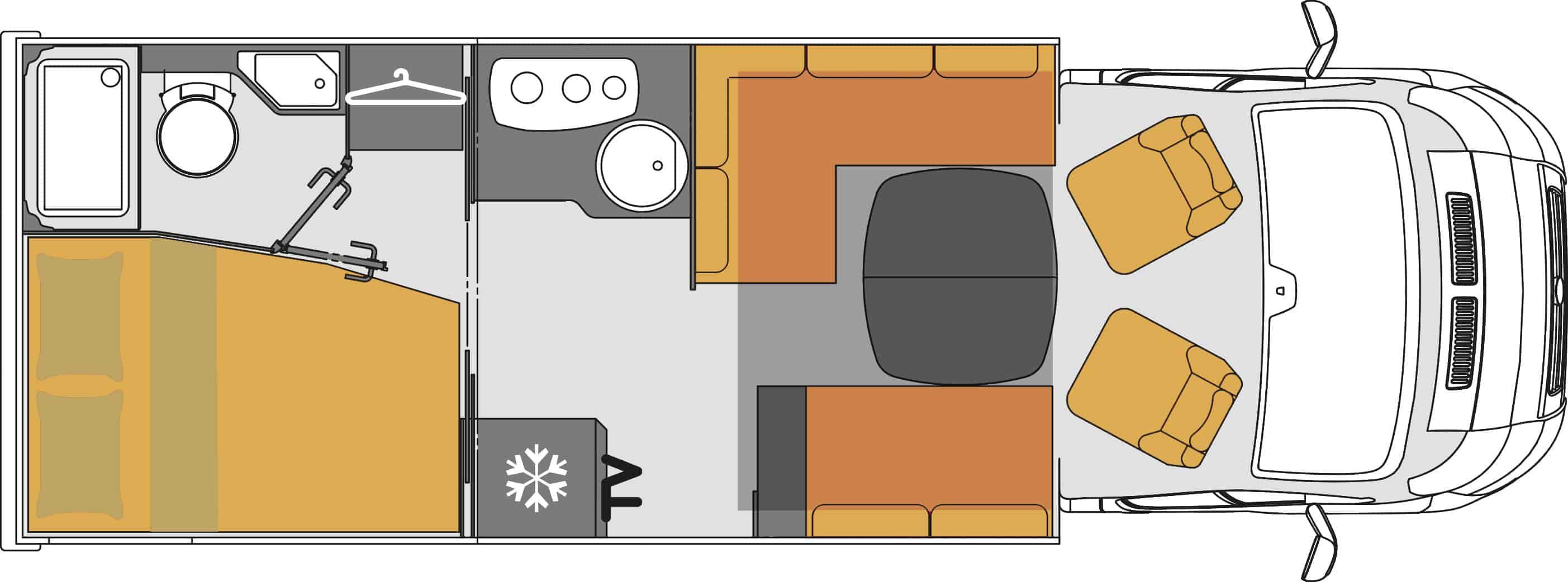 Mooveo Wohnmobil TEI-71FB(H)