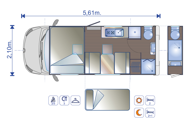 Wohnmobil BELA trendy 1