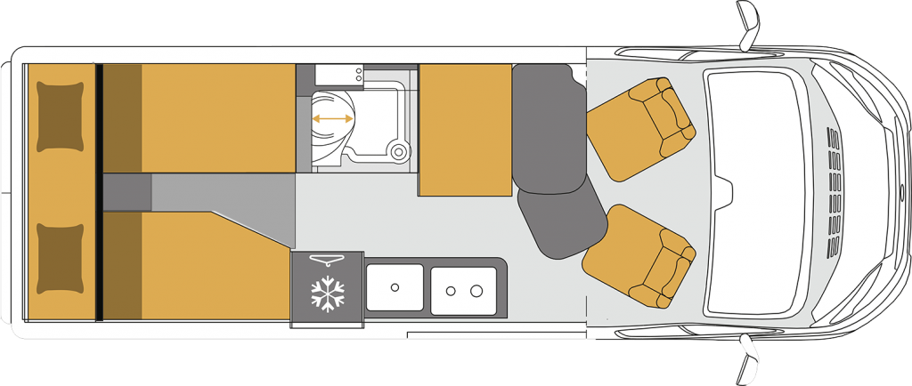 Wohnmobil kaufen neu Grundriss PRESTIGE 63EB