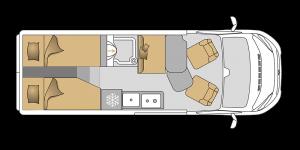 Van 63EB mit Einzelbetten