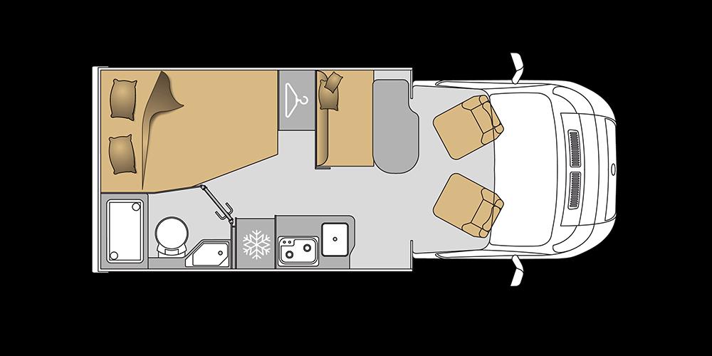 Mooveo Wohnmobil TEI-60FB