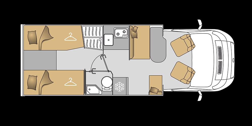 Mooveo Wohnmobil TEI-70EB(H)